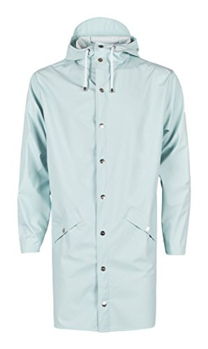 RAINS Herren Regenmantel Long Jacket Blue (Wan Blue)