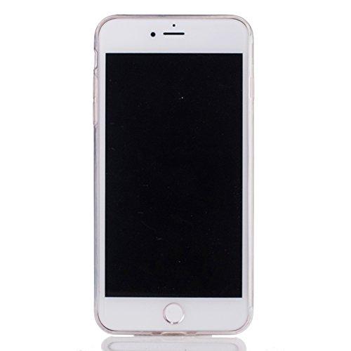 iPhone 7 Plus Coque, Aeeque Fleurs de Dentelle Blanc Dessin Transparent Crystal Silicone Doux TPU Protection Contre les Chutes Case Cover Housse Etui pour iPhone 7 Plus 5.5 pouce Motif #41