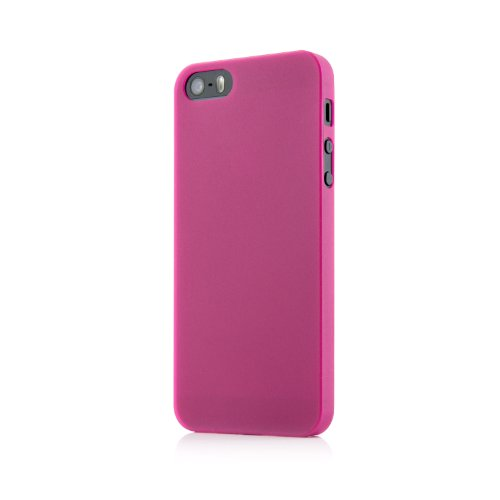 Original QUADOCTA® Tenuis Case für das iPhone SE / 5s / 5 in schwarz aus Polypropylen ULTRA SLIM 0,35mm Pink