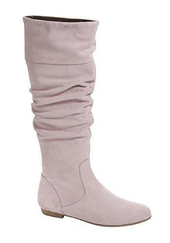 Chillany sandales de bottes en daim Rose - Rose