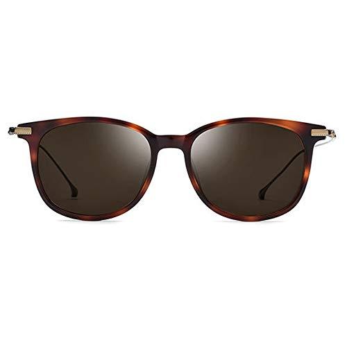 WSW New B Titan Polarisierte Sonnenbrille Männer Ultraleichte Mode Brille Weiblichen Leoparden Rahmen Rahmen Braune Linse UV400 Schutz Bequemlichkeit