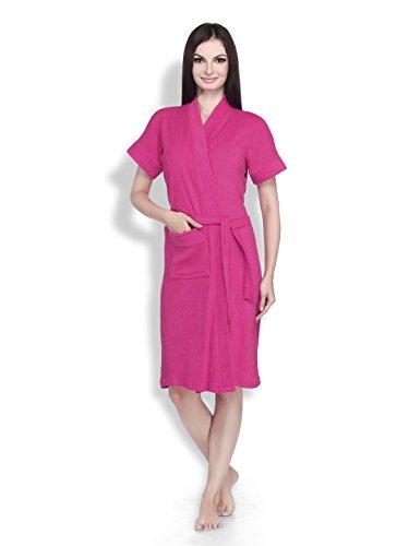 Sand Dune Women Dark Pink Large Bathrobe (Pack Of 1)