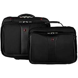"""Wenger 600662 PATRIOT 17"""" 2 pièces Business à roues Laptop Briefcase, compartiment pour ordinateur portable rembourré assortis 15.4"""" Laptop Case en noir {25 Litres}"""