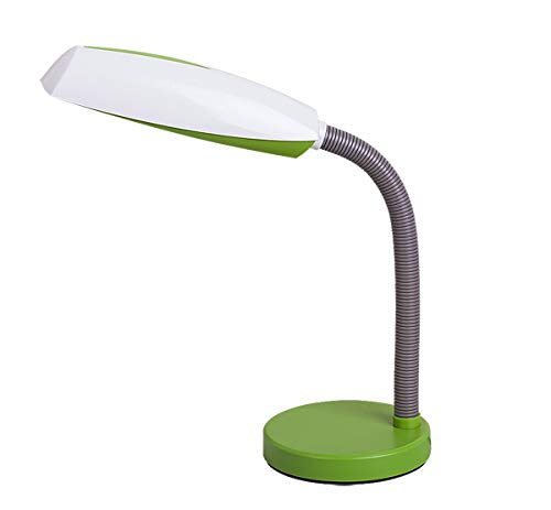 Lámpara de mesa en verde/blanco Lámpara Infantil E27 hasta 15 W ...