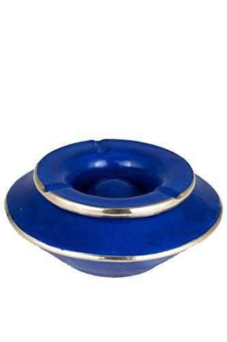 Marokko Tadelakt Aschenbecher Sturmaschenbecher Lalasa blau