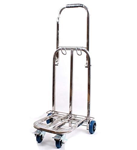 Chariot Diable Pliable Acier Inoxydable Forte Capacité De Charge À Toute Épreuve 4 Roues pour Industriel, 45x42x101cm,B