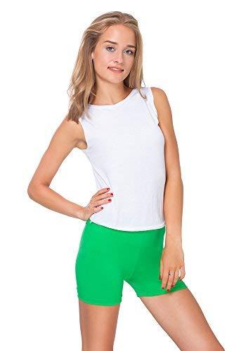 FUTURO FASHION Super weiche Baumwoll-Shorts, elastisch, Stretch, Yoga-Unterhose, Größe 36-22 PSL5 Gr. 38, grün