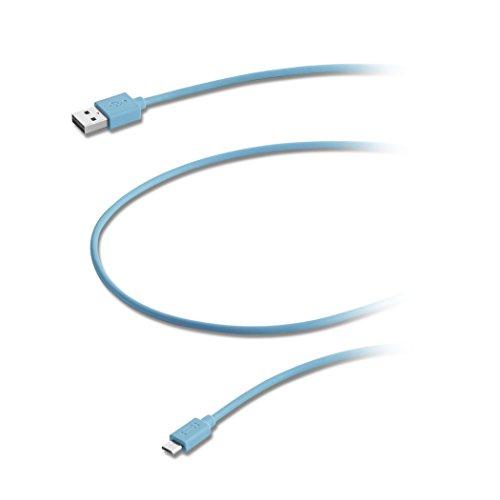 Aiino Samsung Micro USB a USB cavo dati per ricarica e sincronizzazione, Rosa Blu