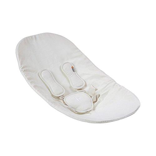 bloom Sitzkissen zu Coco lounger - Wippen-Kissen mit individuell anpassbarem 5-Punkt-Gurt - hält warm & schützt - aus Bio-Baumwolle & Kunstleder - -
