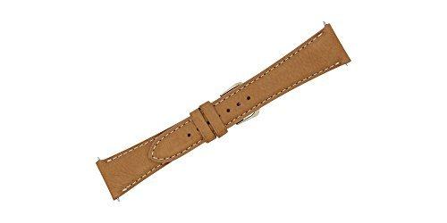 Uhrenarmband aus weichem Echtleder, 22 mm, mit Kontrastnaht, FBA118 - Mercier Baume Band Und Uhr