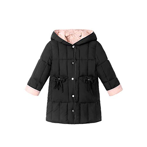 URSING Mädchen Winterjacke Mode Parka Wintermantel Kinder Wintermantel Steppjacke Sportmantel Baumwollgefuetterte Mantel Outdoorjacke Strickmantel mit Fellkapuze (Biber Kostüm Kleinkind)