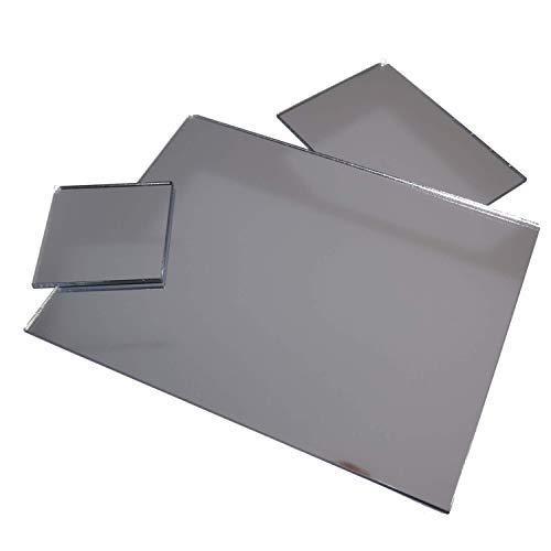 in-outdoorshop Acrylspiegel, Plexiglas®-Spiegel, qualitativ hochwertiger Spiegel, Zuschnitt Scheibe aus 3mm Acrylglas XT Silber, verschiedene Größen und Formen (60cm x 80cm)