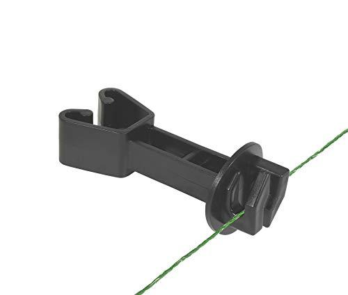 Eider 25x Mattenzaun, schwarz, 105mm > Isolator, um Elektrozäune an Stabmattenzaunanlagen zu montieren, passend für alle herkömmlichen Ausfürhungen Matte