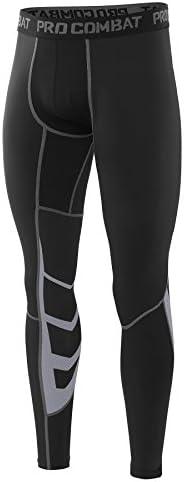 AMZSPORT Pantalon de Compression pour Hommes Cool Collants Leggings Base pour Toutes Les Saisons