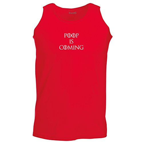 Brand88 - Poop is Coming, Unisex Athletic Weste Rot