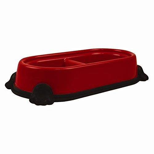 Double Pet Food/Water Bowl Non-Slip (Red)