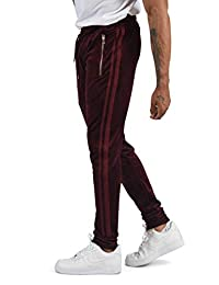 Project X Paris Pantalon de Jogging Velvet Double Bandes sur Les côtés Homme  XS, Bordeaux 5cdbbe635d2f