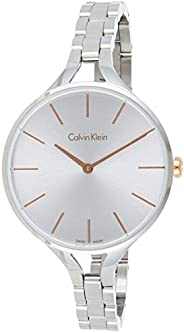 Calvin Klein K7E23B46 Womens Quartz Watch, Analog Display and Stainless Steel Strap - White