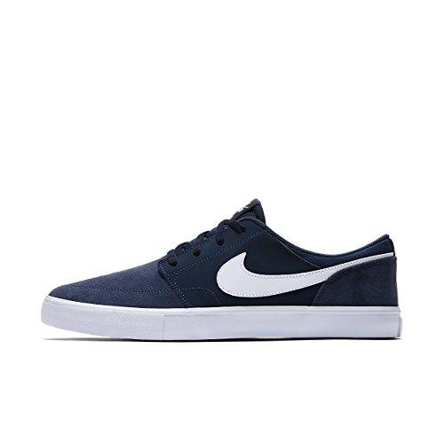 Nike SB Portmore II Solar, Chaussures de Skateboard Homme Bleu (Midnight Navywhiteblack 410)
