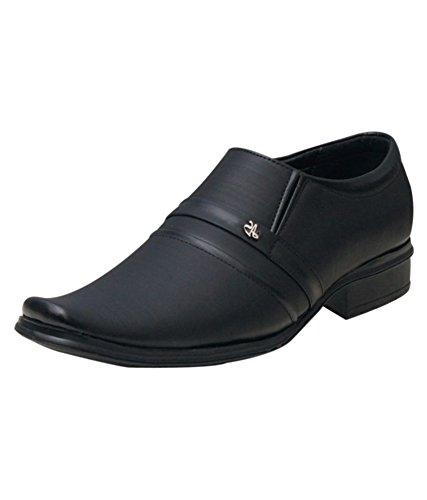 Shoe Rock Vision(SRV) Mens Black Synthetic Leather Formal Shoes For Men (7, Black)