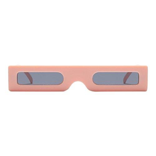 CLOOM Weinlese rechteckige Sonnenbrille Retro Eyewear kleiner Rahmen Mode Damen Mann Sonnenbrille...