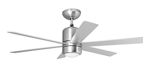 Orbegozo CP 50120 - Ventilador de techo con luz y mando a distancia, 6 palas, 120 cm de diámetro, potencia de 60 W y 3 velocidades