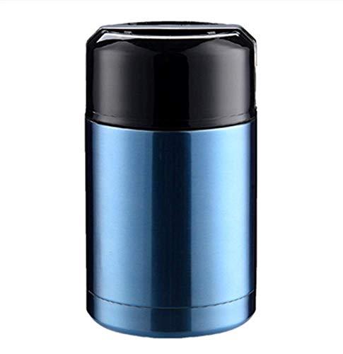 Haosen 1 L Edelstahl Thermos isolierbehälter für Lebensmittel Vakuum-Isolierbehälter Isolier Foodbehälter thermobehälter - Auslaufsicherer,Stilvolles Aussehen,leicht zu Tragen (Blau)
