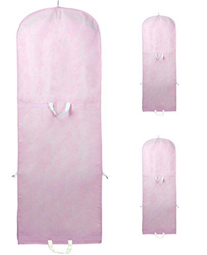 [3 St. Set] Atmungsaktiver Kleidersack 180 cm Länge, Schutzhülle für Brautkleider / Abendkleider...