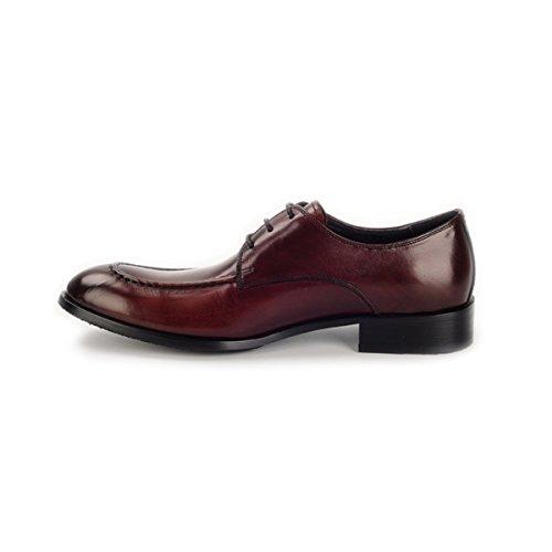 LYZGF Hommes Gentleman Business Casual Mode Formel Banquet Pointu Laçage Chaussures En Cuir Brown