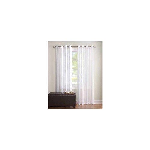 BH & G Toby Textured Stripe Sheer Fenster Panel Weiß 132,1x 213,4cm 073161040 (Weißen Bh Sheer)