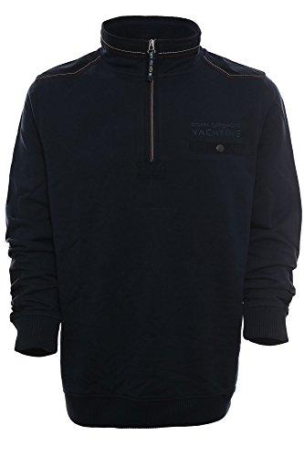 Kitaro Herren Sweatshirt Sweater Troyer -Royal Offshore Yachting- marine (navy)