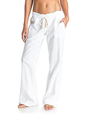 Roxy Oceanside Pantalones, Mujer, Blanco (Bright White/Solid), XL