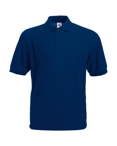 Fruit of the Loom Pique Polo Shirt Navy - L