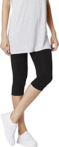 ESMARA® Damen Leggings, Capri-Länge (schwarz, Gr. XL - 48/50), 95% Baumwolle, 5% Elasthan (Schwarze Capri Leggings Xl)