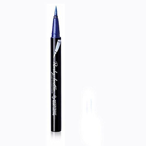 Eyeliner-Liquid,Eyeliner Pen Maquillage Cosmétique,,Eyeliner Waterproof,PowerFul-LOT Beauté Noir Étanche Eyeliner Liquide Eye Liner Stylo Crayon Maquillage Cosmétique Nouveau (Bleu)