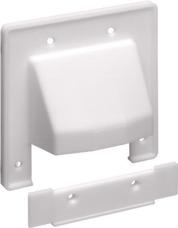 Double Gang Scoop Plate White With Removable