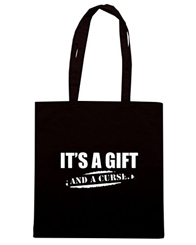 T-Shirtshock - Borsa Shopping OLDENG00552 its a gift and a curse Nero