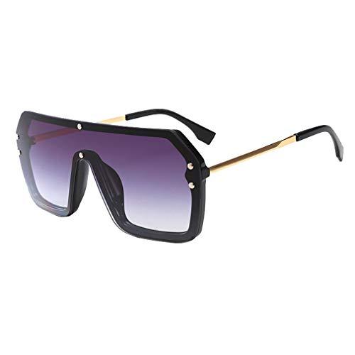 WEIMEITE Luxus Männer Frauen Große Pilot Sonnenbrille Gradient Retro Schwarz Aviator Silber Spiegel Sonnenbrille UV400 C6