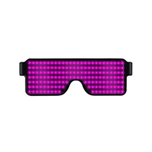 Neue 8 Farben Unisex LED Party Brille, Sonnenbrille Shutter Shades, USB wiederaufladbare Leuchtgläser, Neon Party Supplies Party Favors (Shutter Shades Led)