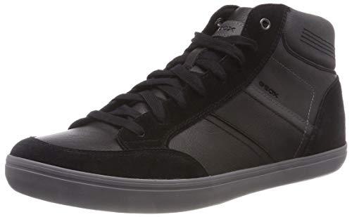 Geox U Box E, Sneaker a Collo Alto Uomo, Marrone (Cognac/Navy C6176), 42 EU