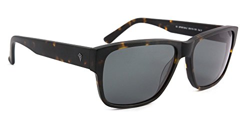 SPOTSNAPR - Sonnenbrille Skip Series, verspiegelte Unisex Sonnenbrille, Sonnenbrille Frauen/Männer (Green Havanna)