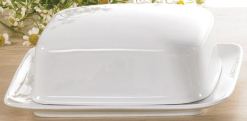 Seltmann Weiden Rondo / Liane Weiss Uni Butterdose 1/2 Pfd - Butterdose Compact