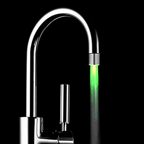 MIRRAY Küche Wasserhahn Temperatursensor 3 Farbe Wasserhahn Glow Shower Light Glow (Silber-1, 35 * 24mm)