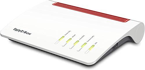 AVM FRITZ! Box 7590 WLAN AC+N Router (DSL/VDSL,1.733 MBit/s (5GHz) & 800 MBit/s (2,4 GHz), bis zu 300 MBit/s mit VDSL-Supervectoring 35b, WLAN Mesh,\nDECT-Basis, Media Server, geeignet für Deutschland)
