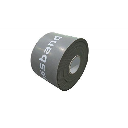 Flossband, einzeln, Standardbreite 5cm, in 4 verschiedene Stärken - Level 4 - grau - extra stark - 1,8 mm (Einzelne Grau)