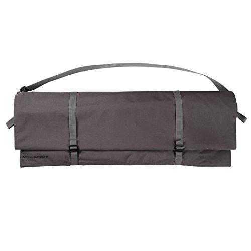 Ultrasport Seilsack für Kletterseile mit diversen Tragemöglichkeiten, der aufklappbare Seilsack ist auch als saubere Unterlage nutzbar, Farbe, grau