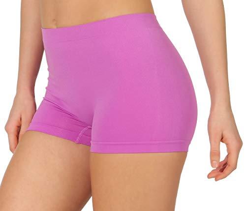 simaranda 6er Pack Damen Slips Seamless Unterwäsche Panty Boxershorts Unterhose Microfaser 20 (XL/XXL, Farbig) - 8