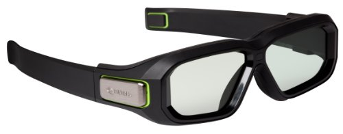 NVIDIA GeForce 3D Vision 2 wireless 3D-Brille Kit (USB-Controller, 2 Mittelstücke, Tasche, USB 2.0)
