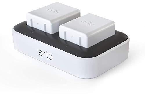 Arlo Zubehör, Dualladegerät (offiziell, bis zu zwei Akkus laden, nur mit Arlo Ultra und Pro3 kompatibel) VMA5400C
