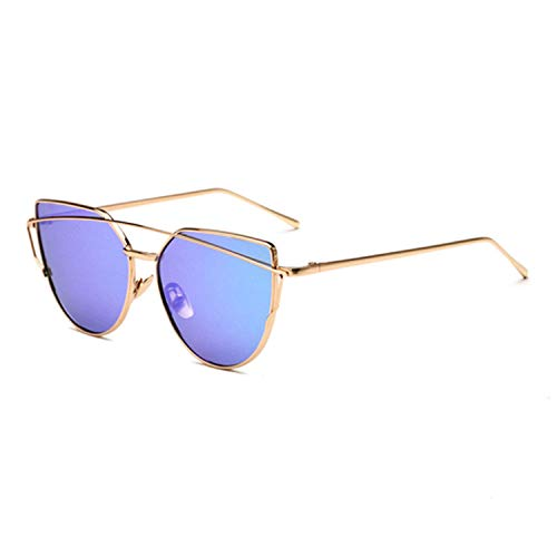 WERERT Sportbrille Sonnenbrillen Sunglasses Women Retro Oversize Sunglasses Female Mirrored Sunglasses